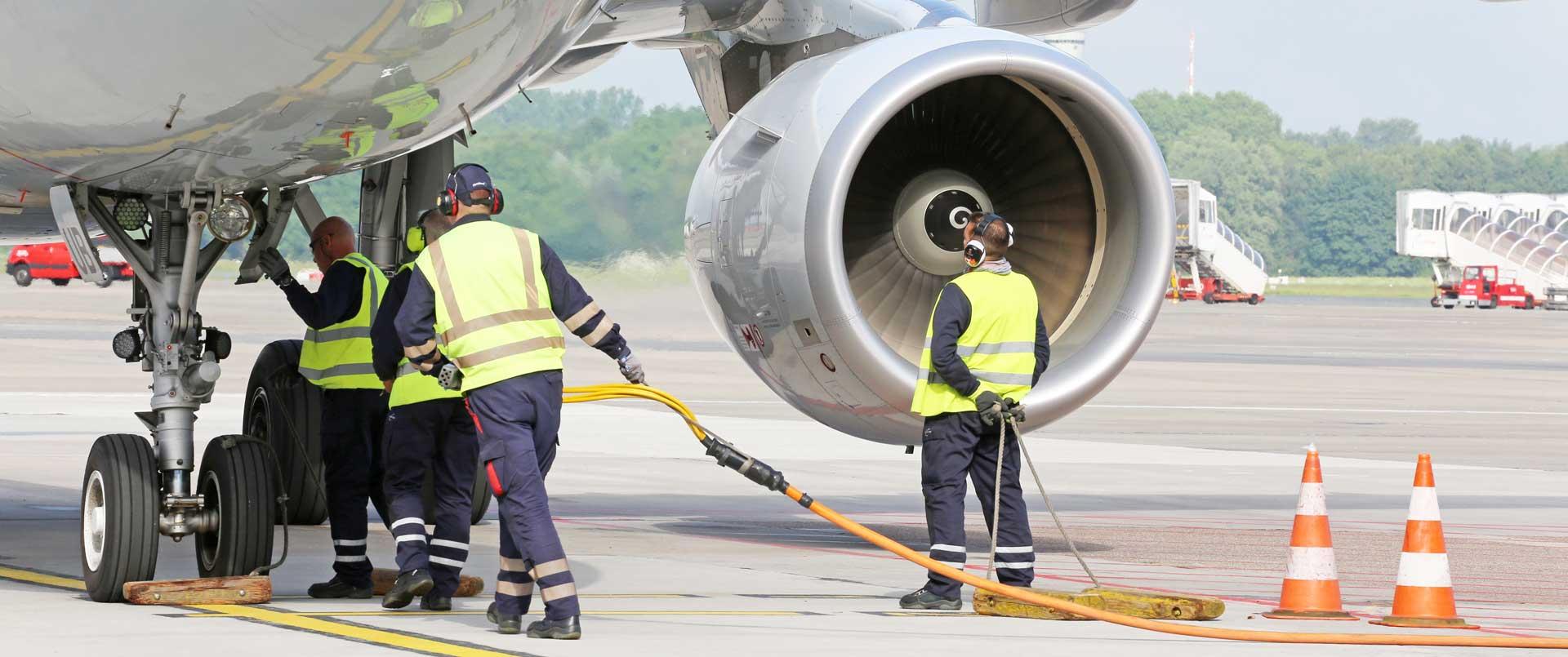 Aviation line maintenance engineers